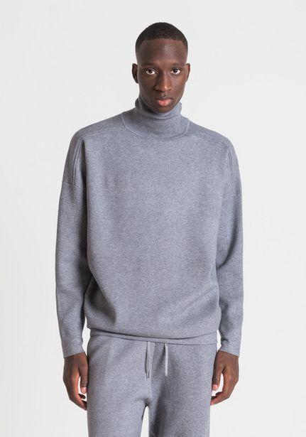 Oferta de Jersey De Cuello Alto Slim Fit De Color Liso Con Hombro Caído por 79€