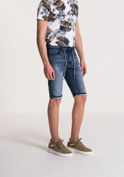 """Oferta de Pantalones Cortos Fit Flex """"joy"""" Efecto Usado Lavado Oscuro por 55,3€"""