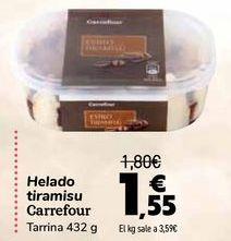 Oferta de Helado tiramisu Carrefour  por 1,55€