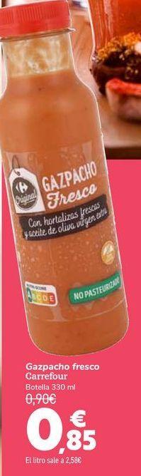 Oferta de Gazpacho fresco Carrefour  por 0,85€