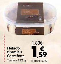 Oferta de Helado tiramisu Carrefour  por 1,59€