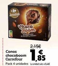 Oferta de Conos chocoboom Carrefour  por 1,85€