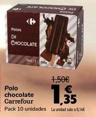 Oferta de Polo chocolate Carrefour  por 1,35€