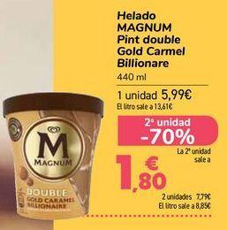 Oferta de Helado MAGNUM Pint double Gold Carmel Billionare  por 5,99€