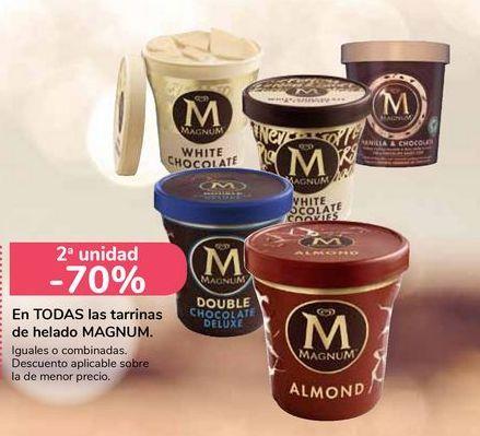 Oferta de En TODAS las tarrinas de helado MAGNUM  por