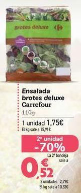 Oferta de Ensalada brotes deluxe Carrefour  por 1,75€