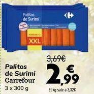 Oferta de Palitos de surimi Carrefour  por 2,99€