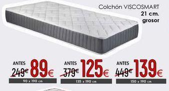 Oferta de Colchón ViscoSmart por 125€