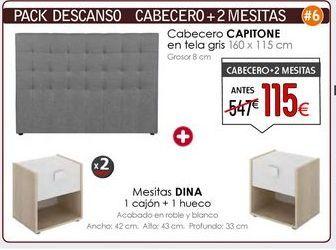 Oferta de Mesita de noche Dina + cabecero por 115€