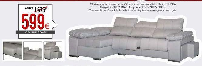 Oferta de Sofás y sillones por 599€