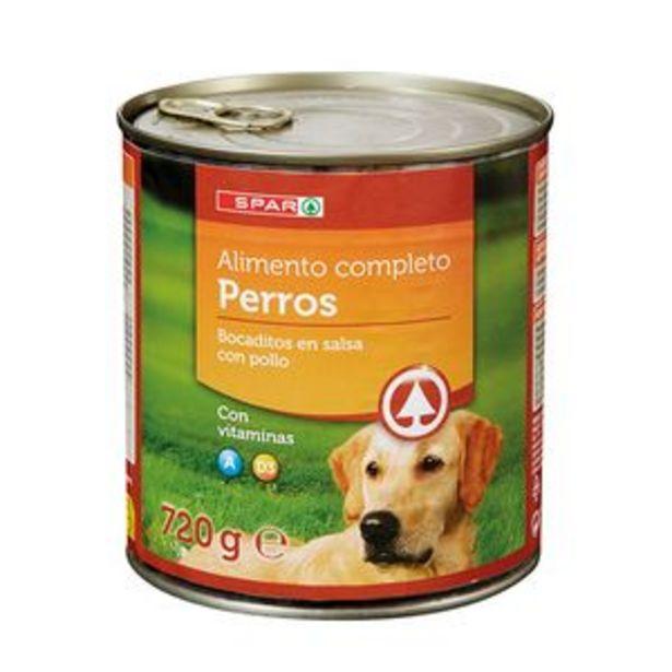 Oferta de Comida para perros bocaditos con pollo lata 720g por 1,35€
