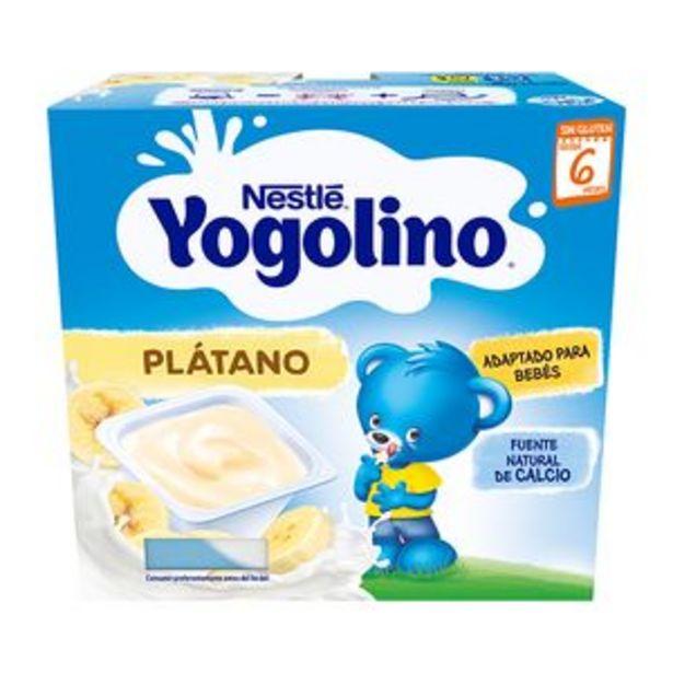 Oferta de Postre lácteo Yogolino plátano p4x100g por 2,25€