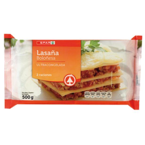 Oferta de Lasaña boloñesa bol. 500g por 1,85€