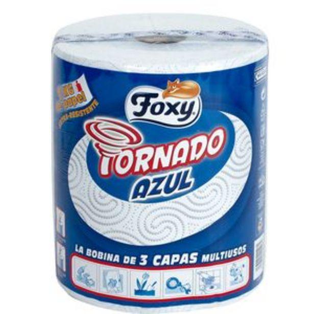 Oferta de Papel de cocina Tornado azul p1ud. por 4,15€