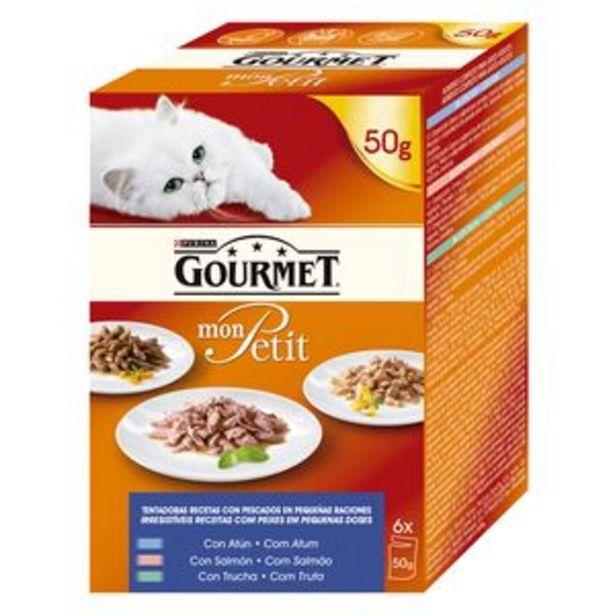 Oferta de Comida de gato Gourmet Mon Petit pescado p6x50g por 1,85€