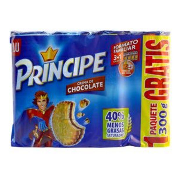 Oferta de Galleta Principe chocolate p3+1x300g por 3,75€