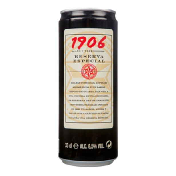 Oferta de Cerveza extra 1906 lata 33cl por 0,83€
