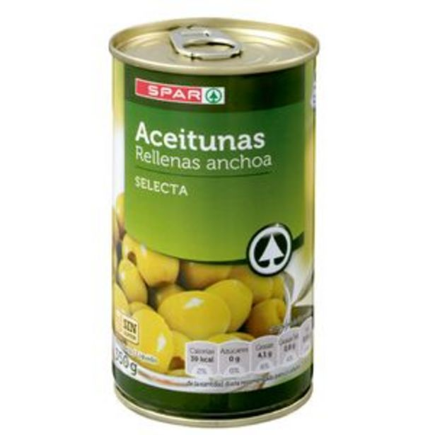 Oferta de Aceituna rellena de anchoa lata 350g por 0,79€