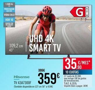 Oferta de Hisense TV 43A7300F por 359€
