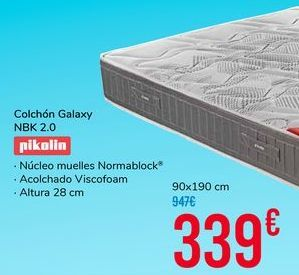 Oferta de Colchón Galaxy NBK 2.0 por 339€
