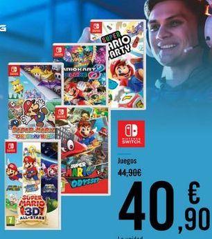 Oferta de NINTENDO SWITCH Juegos por 40,9€
