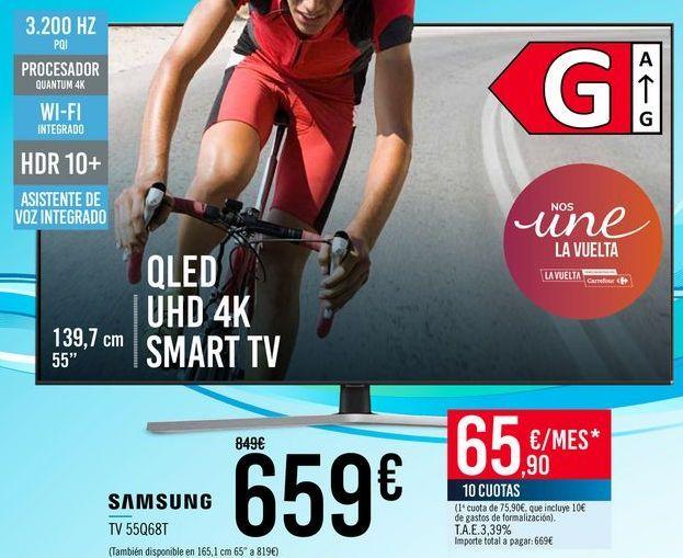 Oferta de SAMSUNG TV 55Q68T por 659€