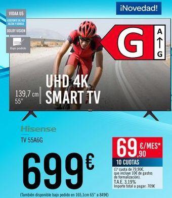 Oferta de Hisense TV 55A6G por 699€