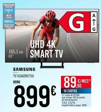Oferta de SAMSUNG TV 65AU9075U por 899€