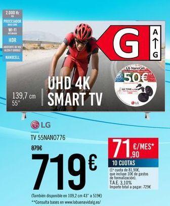 Oferta de LG TV 55NANO776 por 719€