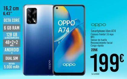 Oferta de OPPO Smartphone libre A74 por 199€