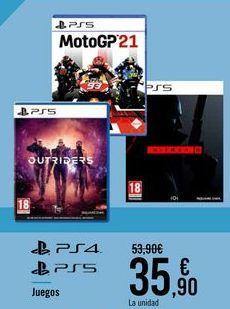 Oferta de Juegos PS4 PS5 por 35,9€