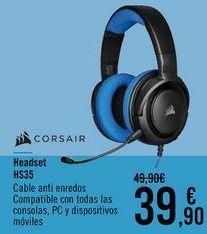 Oferta de CORSAIR Headset HS35 por 39,9€