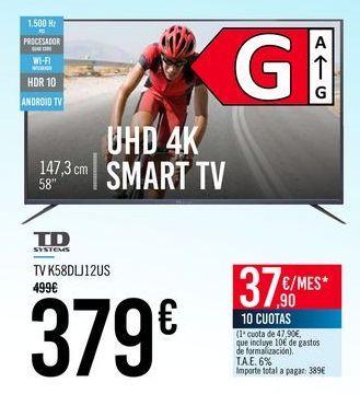 Oferta de TD SYSTEMS TV K58DLJ12US por 379€