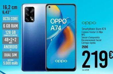 Oferta de OPPO Smartphone libre A74 por 219€