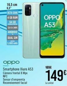 Oferta de OPPO Smartphone libre A53  por 149€