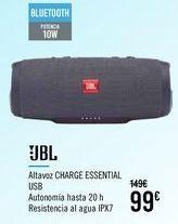 Oferta de JBL Altavoz CHARGE ESSENTIAL USB por 99€