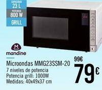 Oferta de Mandine Microondas MMG23SSM-20 por 79€