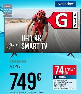 Oferta de Hisense TV 55A6G por 749€