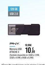 Oferta de PNY Memoria USB ATTACHE 4 por 10,99€