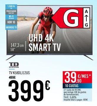 Oferta de TD SYSTEMS TV K58DLJ12US por 399€