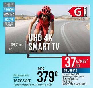Oferta de Hisense TV 43A7300F por 379€