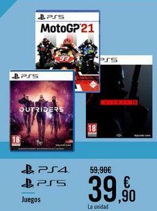 Oferta de Juegos PS4 PS5 por 39,9€