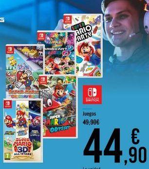 Oferta de NINTENDO SWITCH Juegos por 44,9€