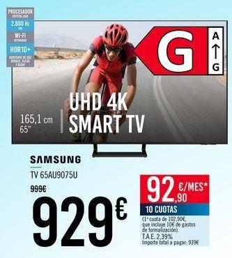 Oferta de SAMSUNG TV 65AU9075U por 929€