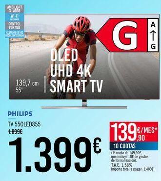 Oferta de PHILIPS TV 55OLED855 por 1399€