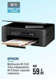 Oferta de EPSON Multifunción XP-2105 por 59,9€