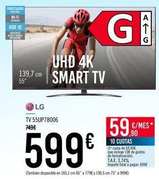 Oferta de LG TV 55UP78006 por 599€