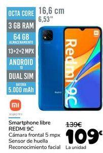 Oferta de XIAOMI Smartphone libre REDMI 9C por 109€