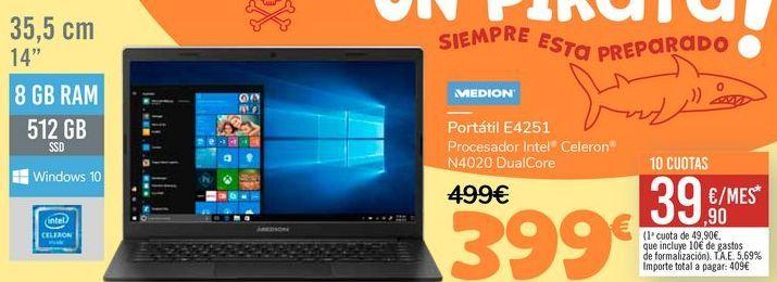 Oferta de MEDION Portátil E4251 por 399€