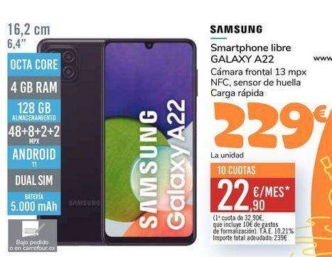 Oferta de SAMSUNG Smartphone libre GALAXY A22 por 229€